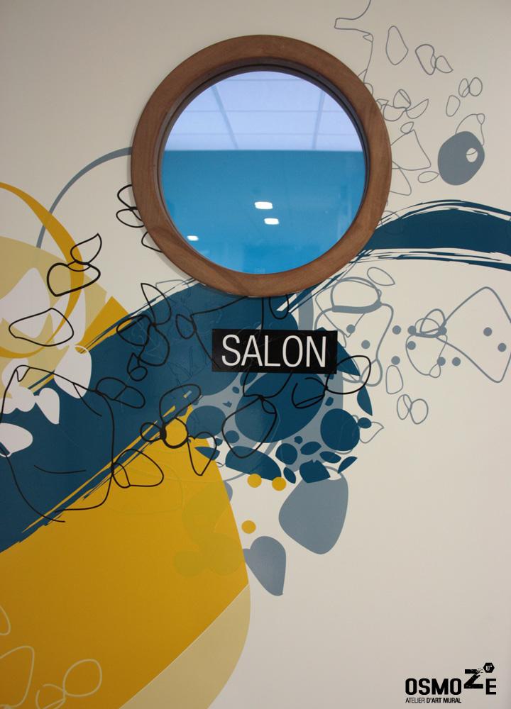 Décoration Murale Signalétique > Ehpad Les Eaux Vives > Triaucourt > Porte Salon