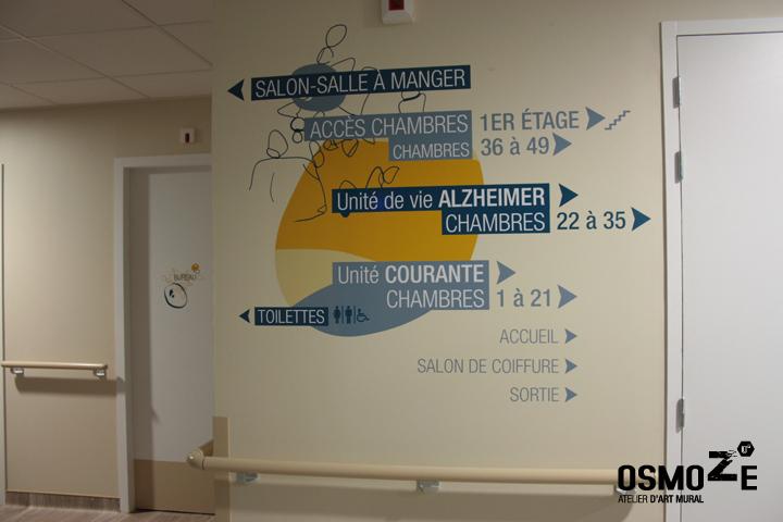 Décoration Murale Signalétique > Ehpad Les Eaux Vives > Triaucourt > Porte Chambre