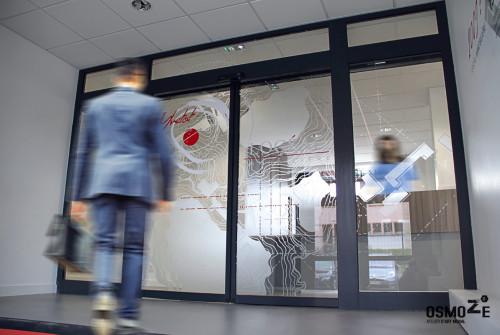 Vitrophanie > Dépoli Design Contemporain > SAS Entrée > Vitre