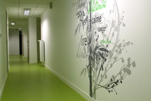 Décoration > Oeuvre murale et fresque contemporaine > Restaurant Entreprise Logéal