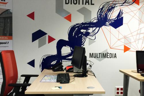 Signalétique Géante > Mur > Espace Coworking La Fabrik > Evry