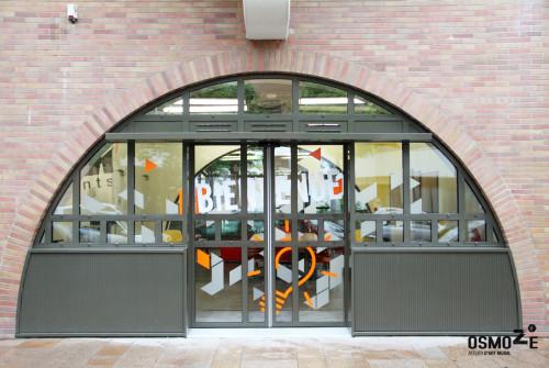 Décoration Vitrophanie Géante > Façade > Espace Coworking La Fabrik > Evry