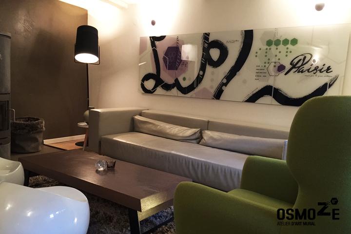 Décoration Murale Plexi > Exposition intérieure Osmoze > Espace de réception cosy > Inspiration
