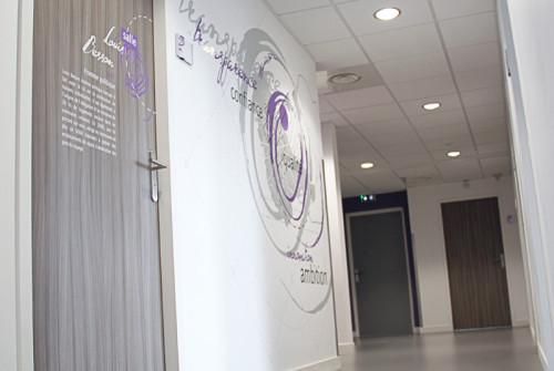 Décoration > Oeuvre murale et fresque contemporaine > Hall Entreprise Logéal