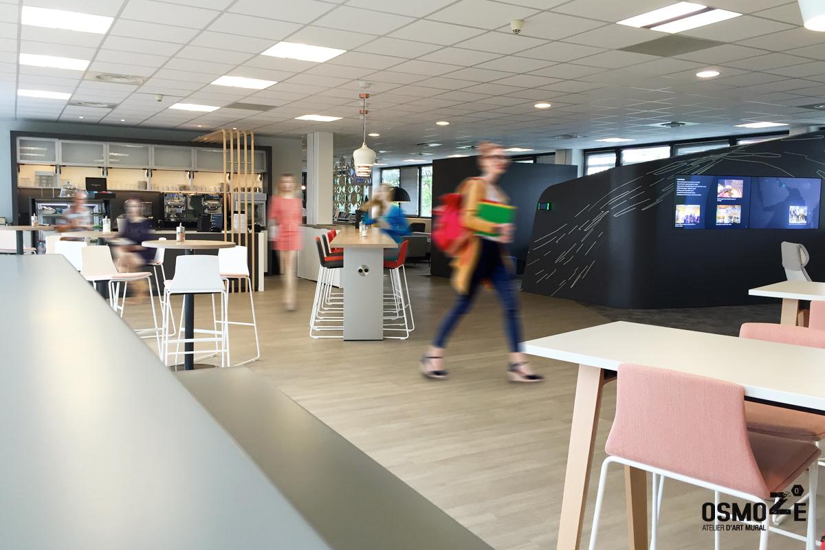 Décoration Murale Architecturale > Steelcase> Art Graphique > Work Café > Strasbourg