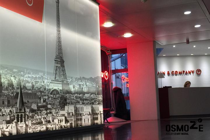 Décoration Murale Architecturale > Bain&Compagny > Art Graphique > Siège Social Paris