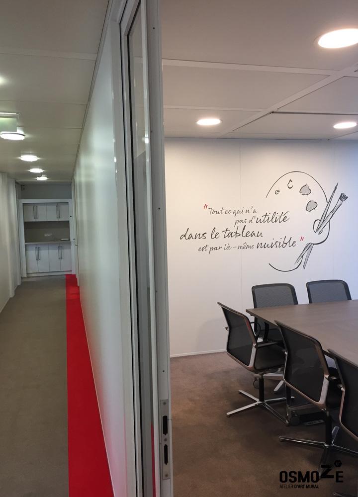 Décoration Murale Architecturale > Salle de Réunion > Fresque Graphique > Siège Social Paris