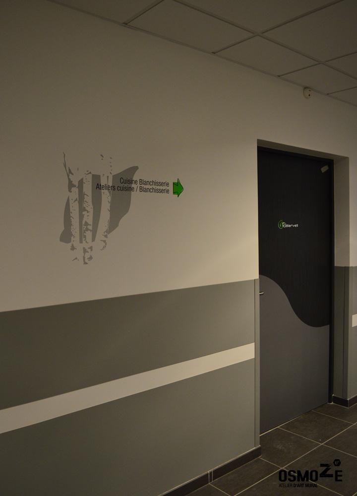 Décoration Murale & Signalétique > Marquage Directionnel > IME Institut Médico Educatif > Voreppe Isère