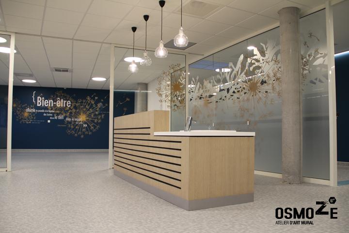 Décoration Murale & Vitrophanie Design > Poly Clinique Salle Reveil > Décor Fresque Graphique > Blois Loire