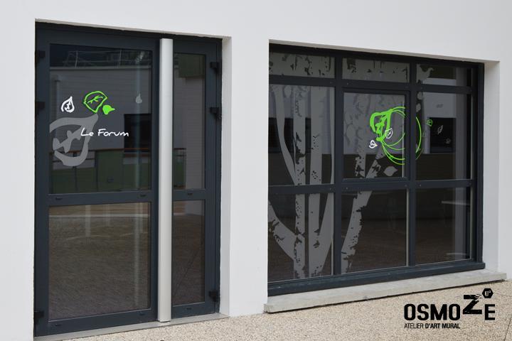 Décoration Murale & Signalétique > Vitrophanie extérieure > IME Institut Médico Educatif > Voreppe Isère