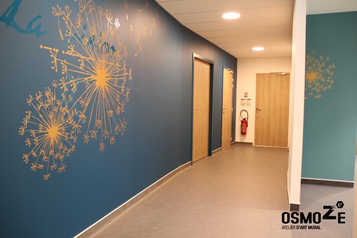 Décoration Murale & Anamorphose Design > Poly Clinique Couloir > Art Mural Doré > Blois Loire