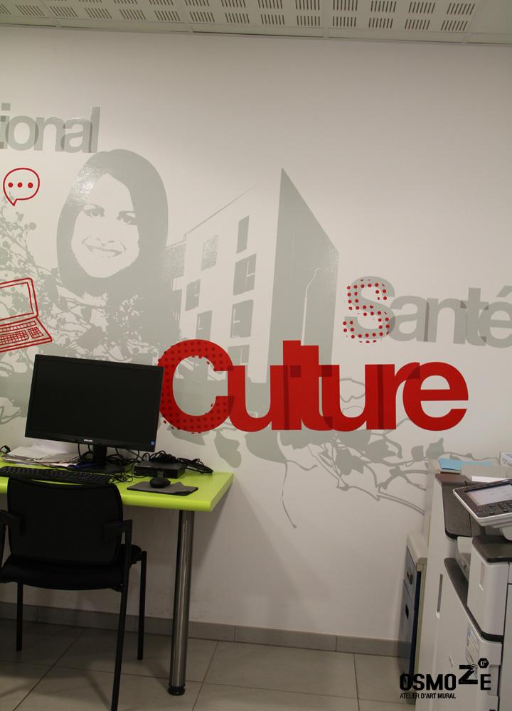 Décoration Sticker Adhésif > Crous et Chambre des métiers > Décor Fresque Graphique > Rouen Normandie