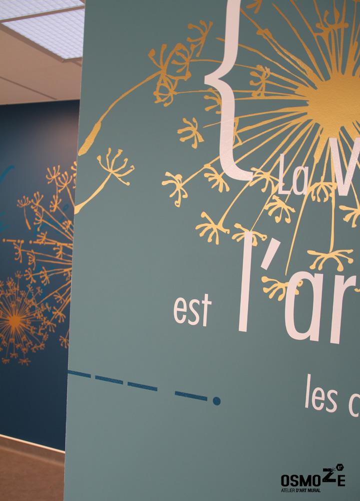 Décoration Murale & Anamorphose Design > Poly Clinique salle attente > Art Mural Doré > Blois Loire