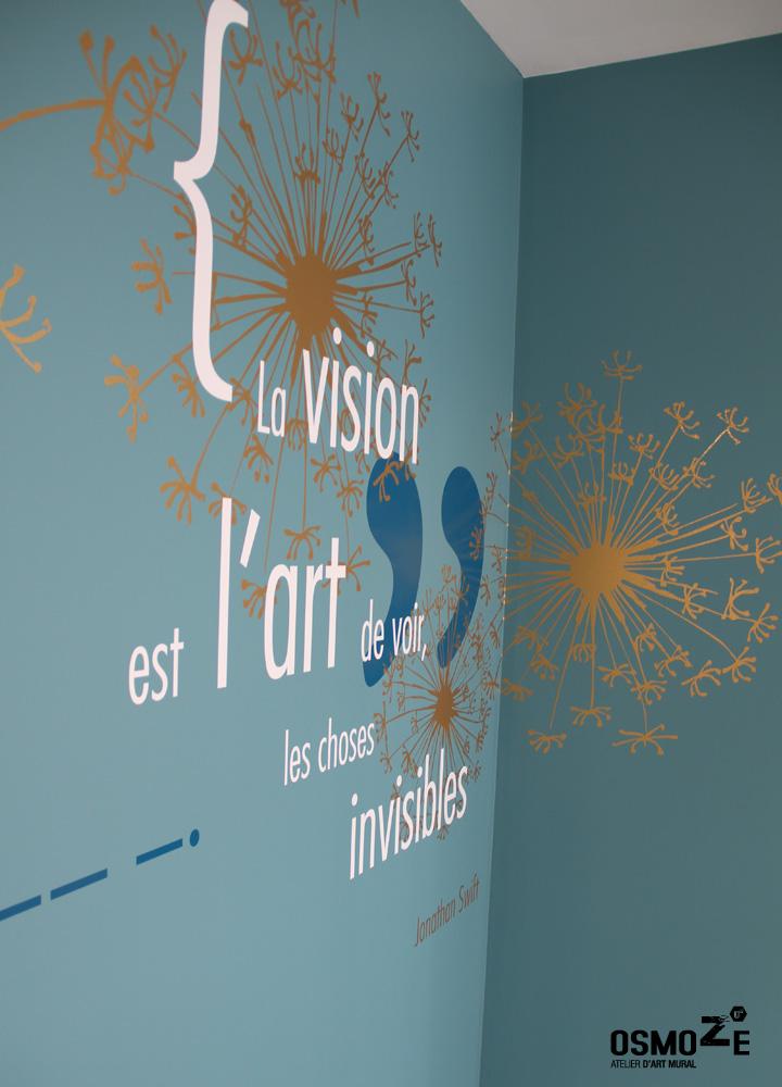 Décoration Murale & Vitrophanie Design > Poly Clinique salle attente > Art Mural Doré > Blois Loire