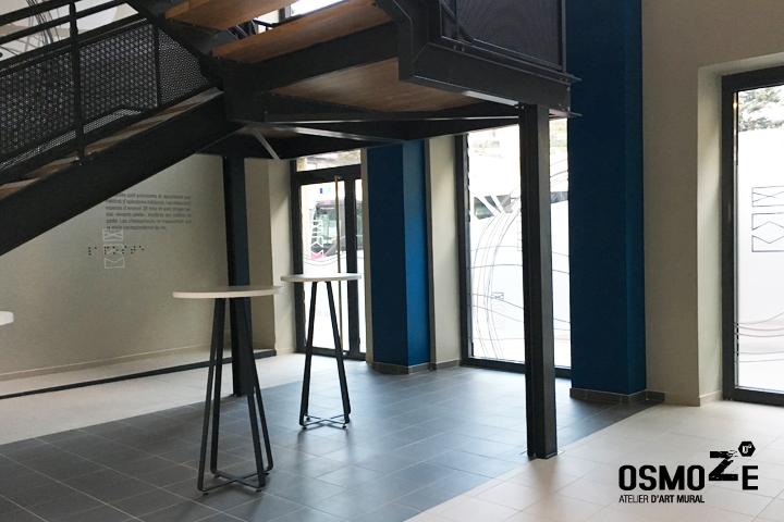 le restaurant d 39 entreprise du groupe la poste enfin d voil osmoze. Black Bedroom Furniture Sets. Home Design Ideas