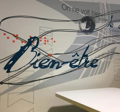 Décoration Murale > Salle Cosy > Restaurant Entreprise La Poste Dijon