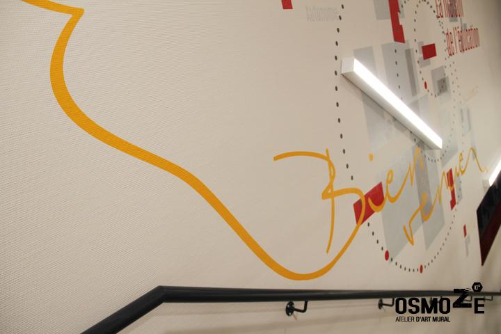 Décoration murale > Siège Social LES PEP01 > Cage escalier