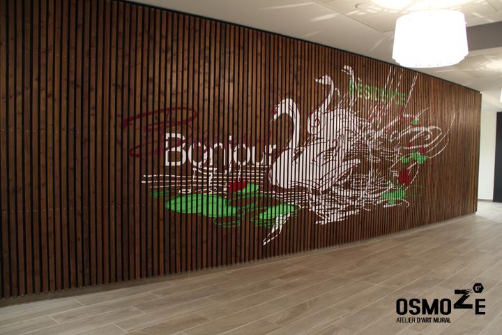 Fresque et décoration Murale > Ehpad > Entrée