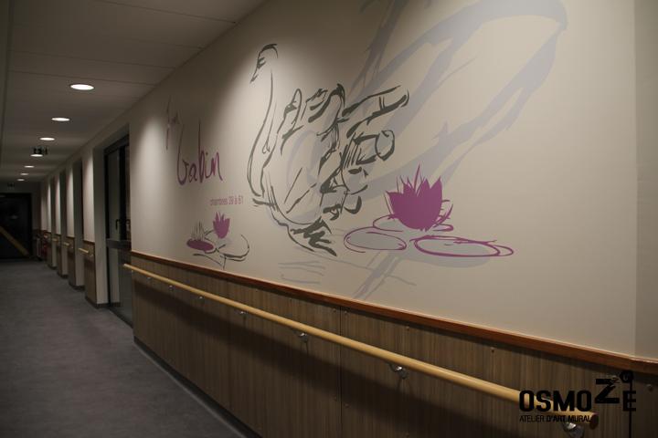Fresque et décoration Murale > Ehpad > Couloir Unité