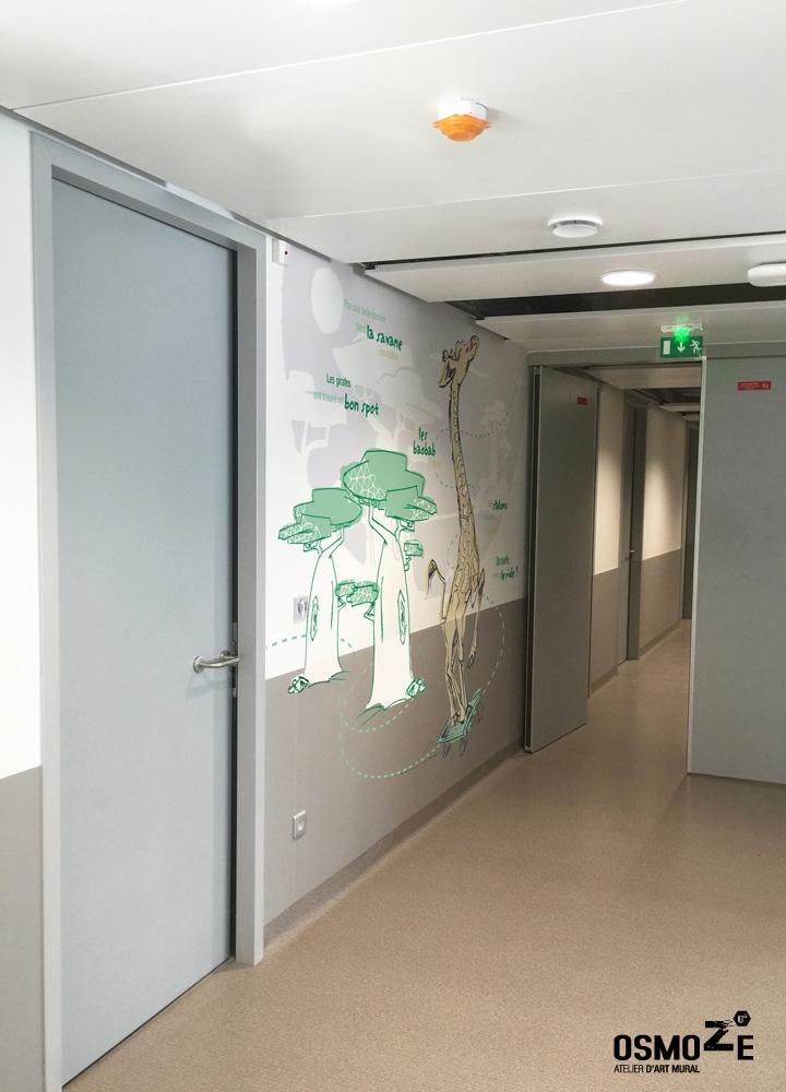 Décoration murale  > Pédiatrie & Urgence Pédiatrie - Néonatalité > Couloir Animaux