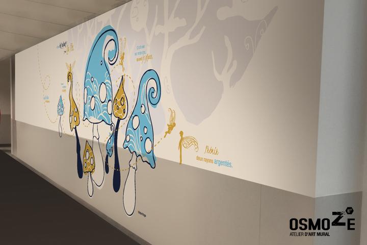 Décoration murale > Pédiatrie & Urgence Pédiatrie - Néonatalité > Couloir Forêt Magique