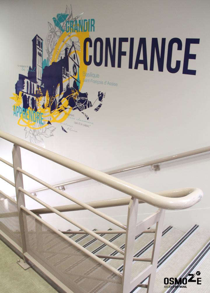 Décor murale > Collège et Lycée St François Paris > Cage escalier