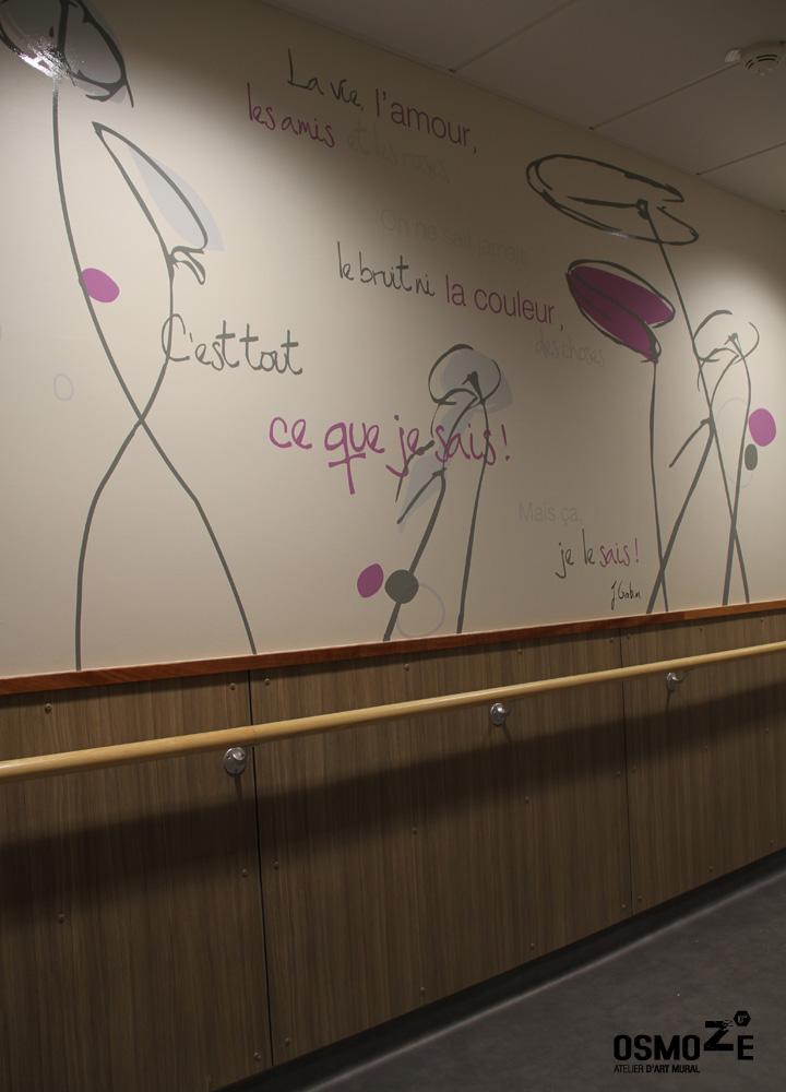 Signalétique murale > Ehpad à Saint Georges > couloir