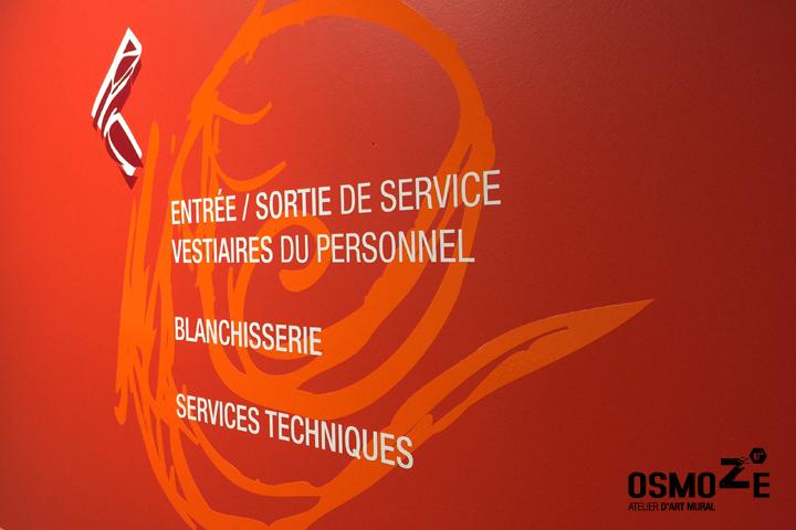 Signalétique intérieure > Ehpad à Saint Georges > Couloir