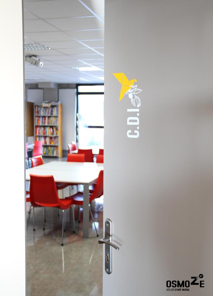 Signalétique intérieure > Collège et Lycée St François Paris > Porte