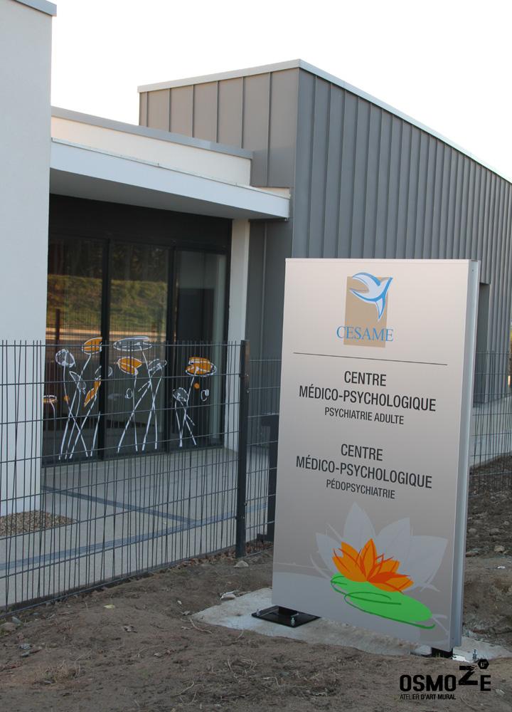 Décoration et vitrophanie > Centre Médico Psychologique à Saint Goerges > Sas Entrée