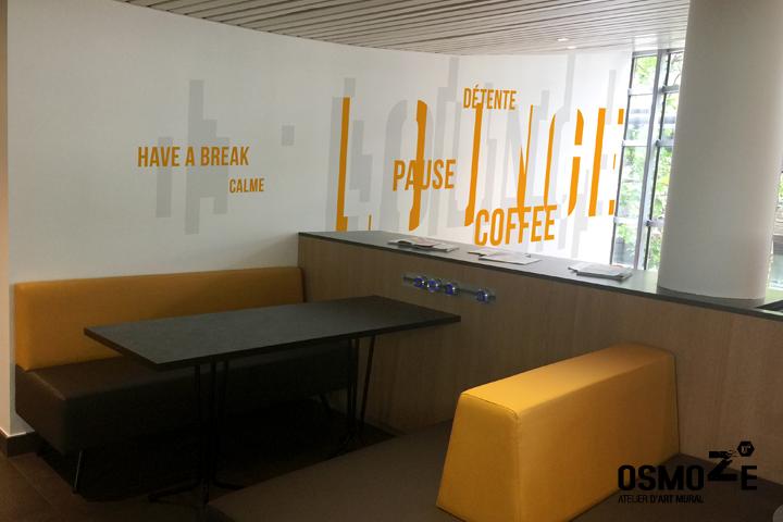 Signalétique murale >Hôtel Kyriad > Espace Lounge > Paris Bercy