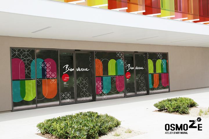 Décoration murale > Crous Restaurant Bordeaux > Sas Entrée Vitrophanie