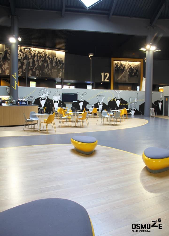 Décoration murale  > Cinéma Pathé Gaumont > Espace d'attente et Lounge Bar  > Strasbourg