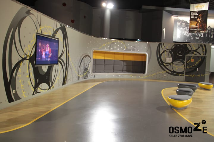 Décoration murale > Cinéma Pathé Gaumont > Espace d'attente > Strasbourg