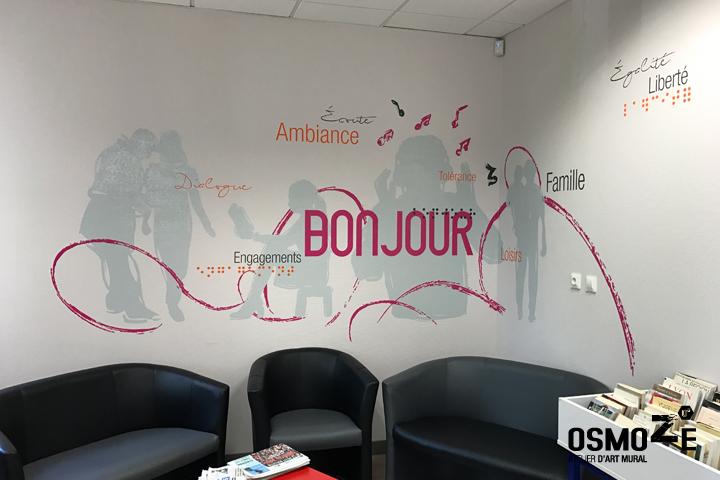Décoration murale > Centre Social et Crèche Laennec > Mur Accueil