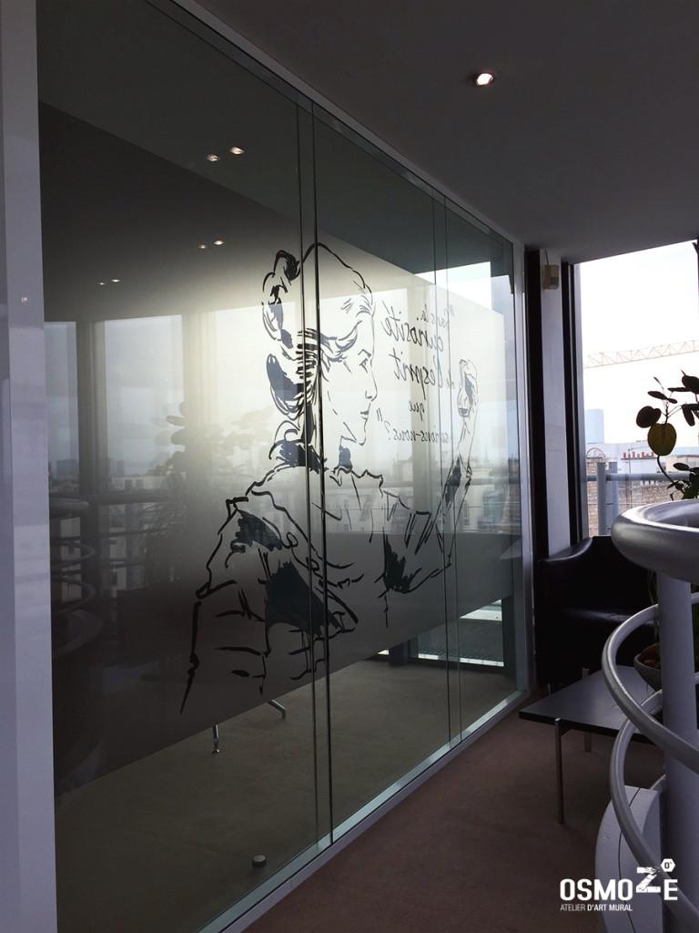 D coration vitrophanie bain et company paris osmoze for Decoration salle de reunion