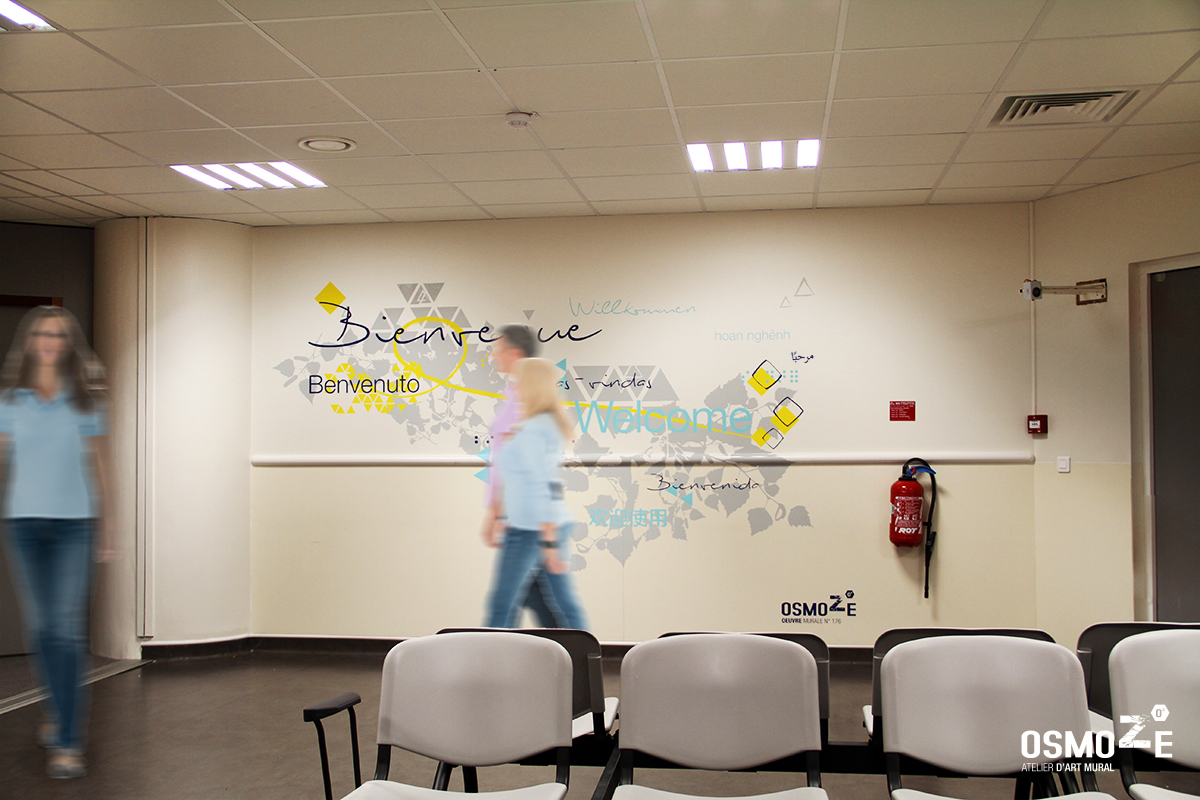 Sc nographie et design d 39 espace osmoze for Decoration murale ecriture