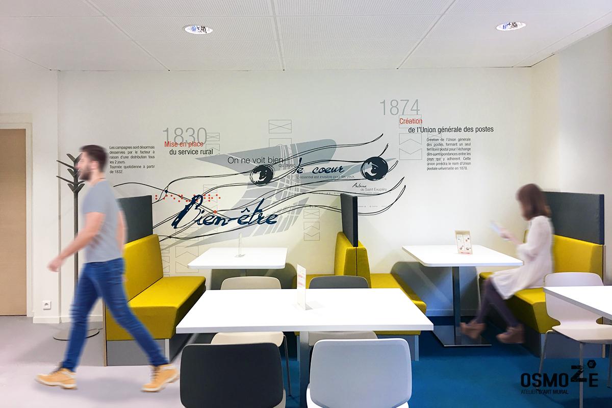 Décoration Architecturale : Restaurant d'entreprise la Poste à DIJON