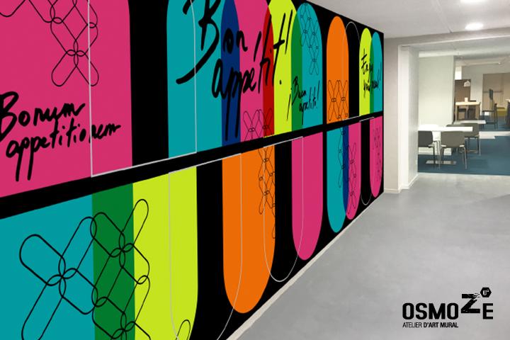 Décoration murale > Crous Restaurant Bordeaux > Mur Principal