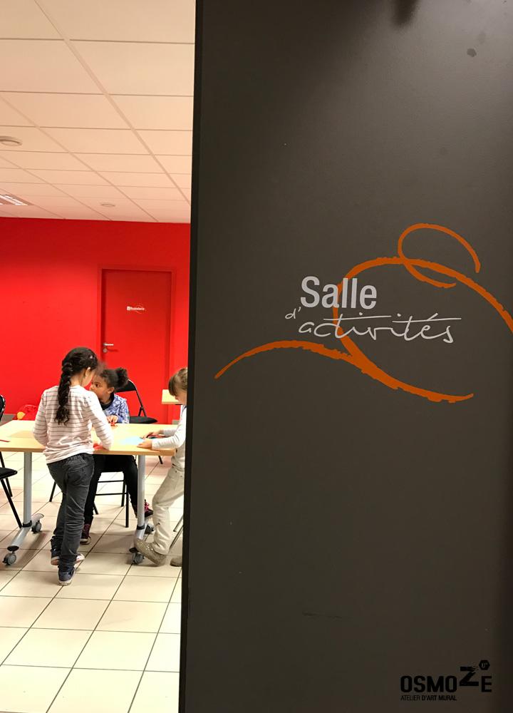 Signalétique murale > Centre Social et Crèche Laennec > Salle activités