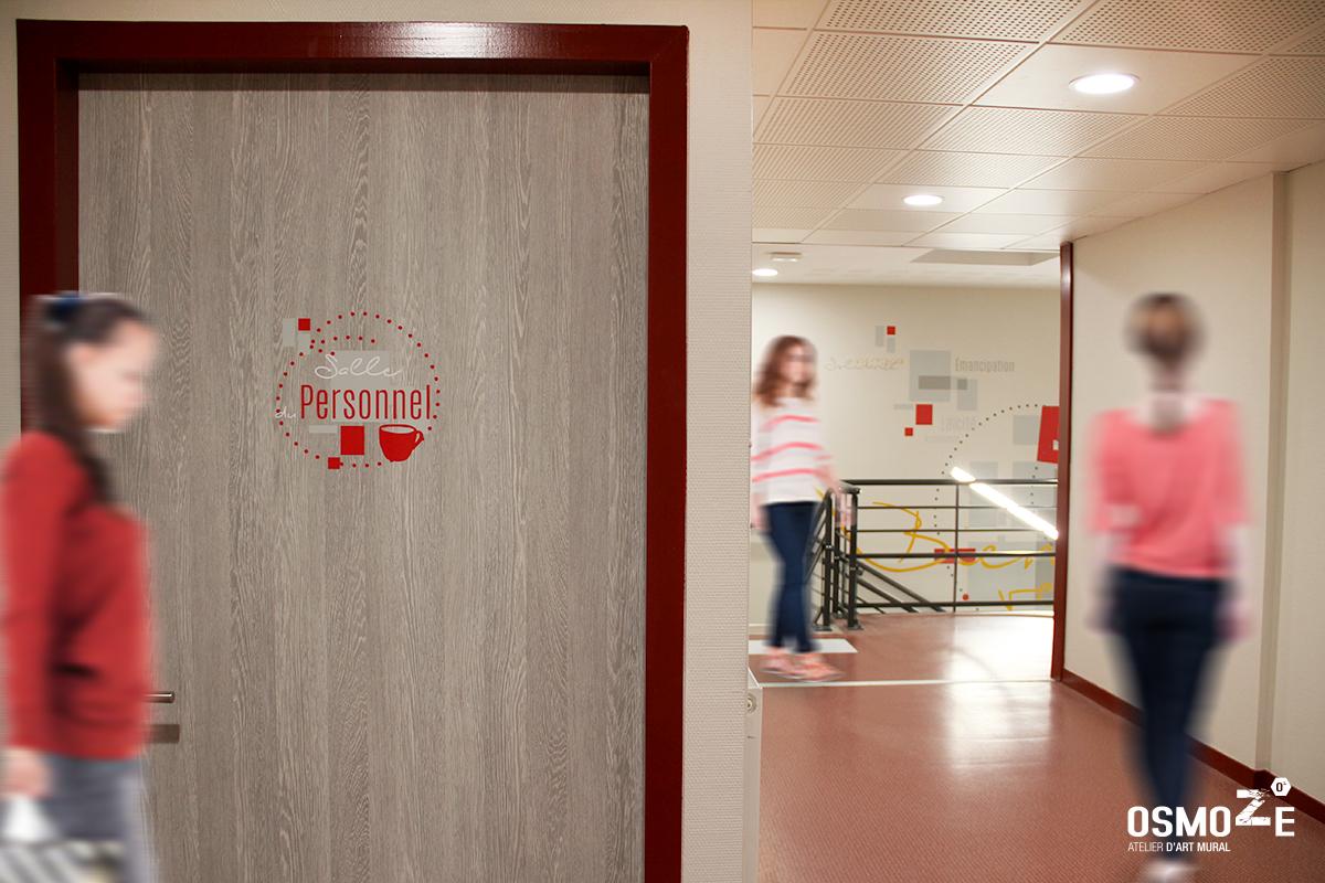Décoration et Signalétique corporate : Siège social des PEP 01 à BOURG-EN-BRESSE