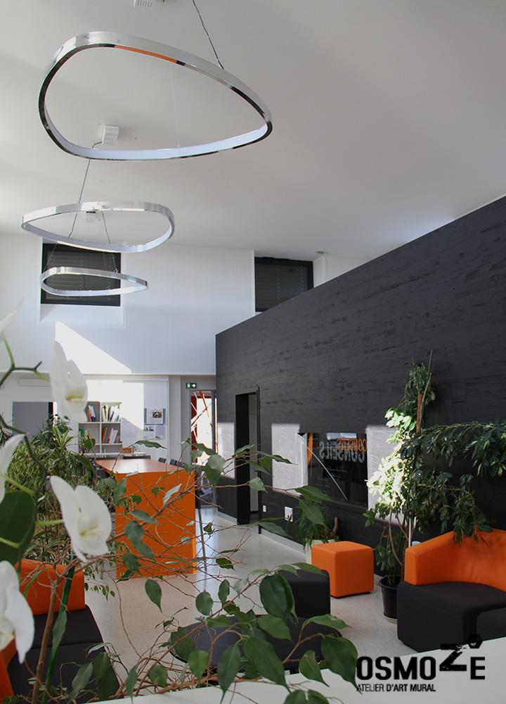 Vitrophanie Murale Artistique > Cabinet Architecture M Associé > Open Space