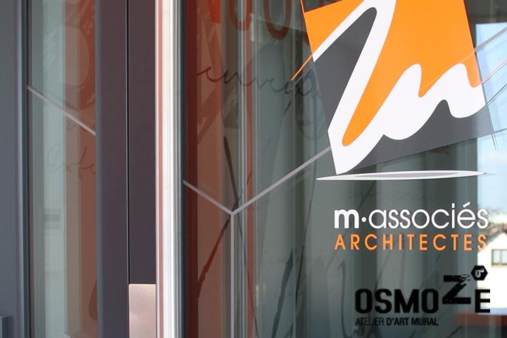 Vitrophanie Murale Artistique > Cabinet Architecture M Associé > Porte Entrée