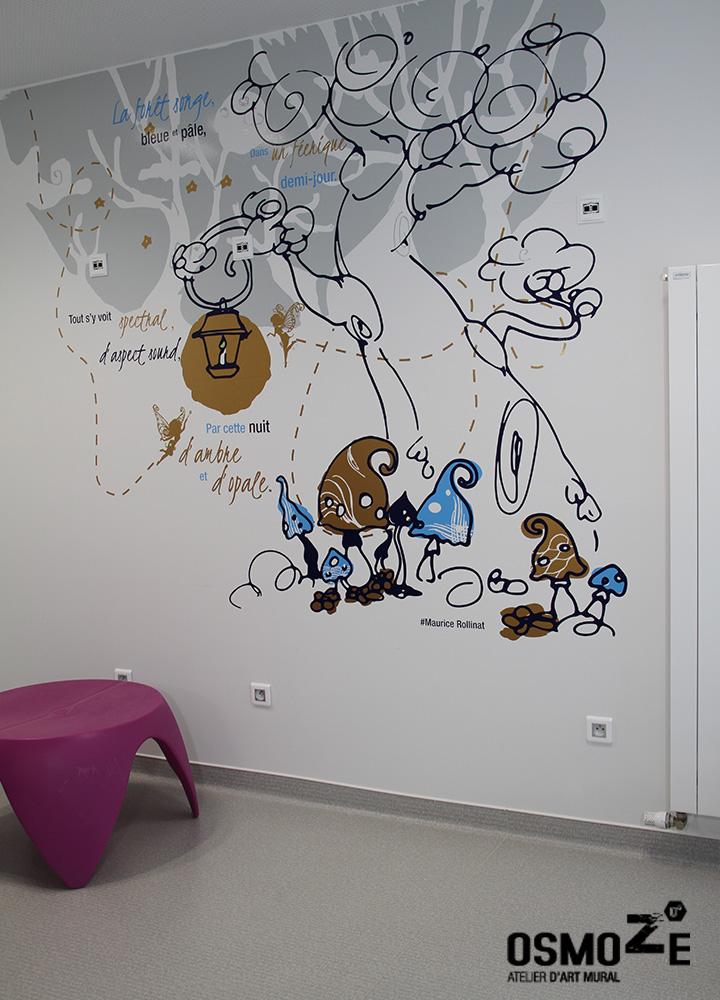 Décoration Murale > Hôpital Nord Franche Comté > Service Enfant Néonatalité