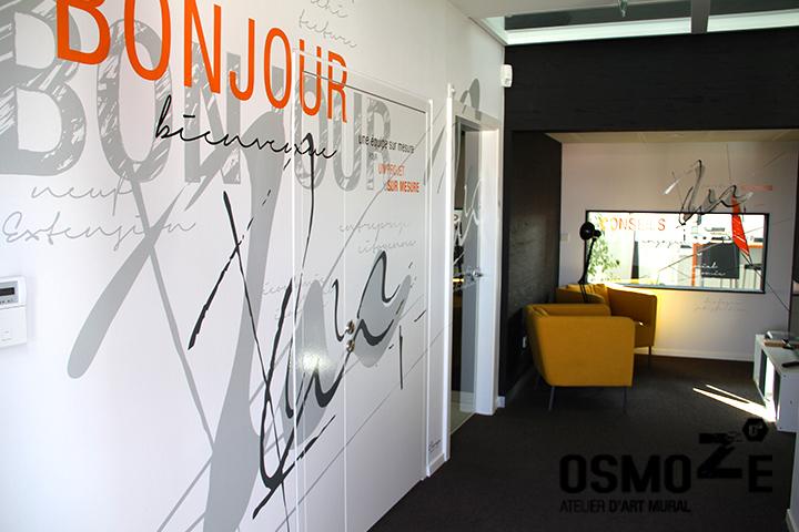 Décoration Murale Artistique > Cabinet Architecture M Associé > Hall Accueil Entrée