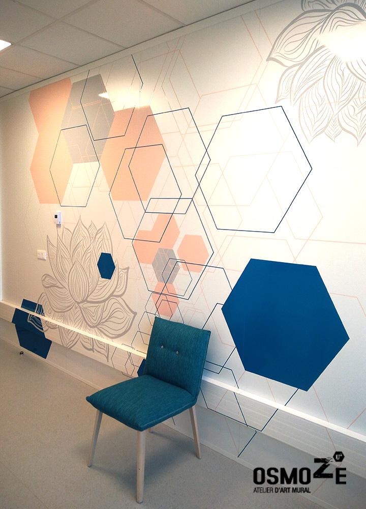 Décoration Murale Artistique  > Site Recherche et Développement LOREAL > Salle de Test et d'Essai