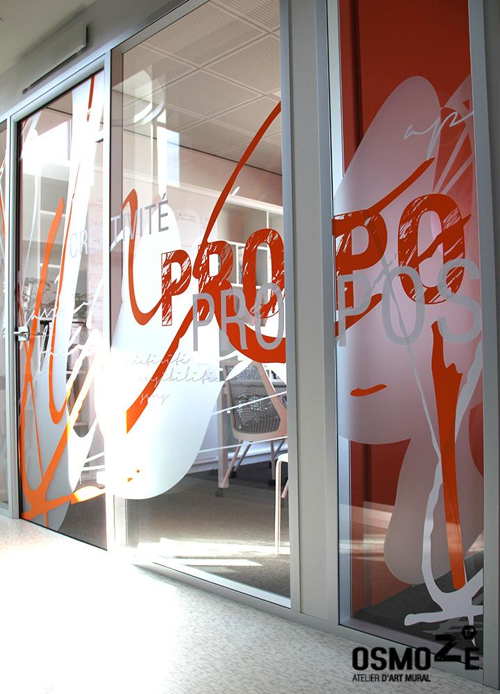 Vitrophanie Cloison Contemporaine > Cabinet Architecture M Associé > Salle de réunion