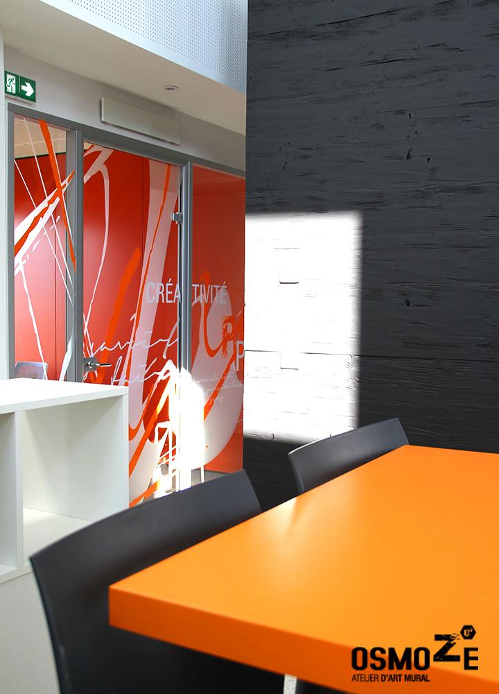 Vitrophanie Cloison Artistique > Cabinet Architecture M Associé > Salle de réunion