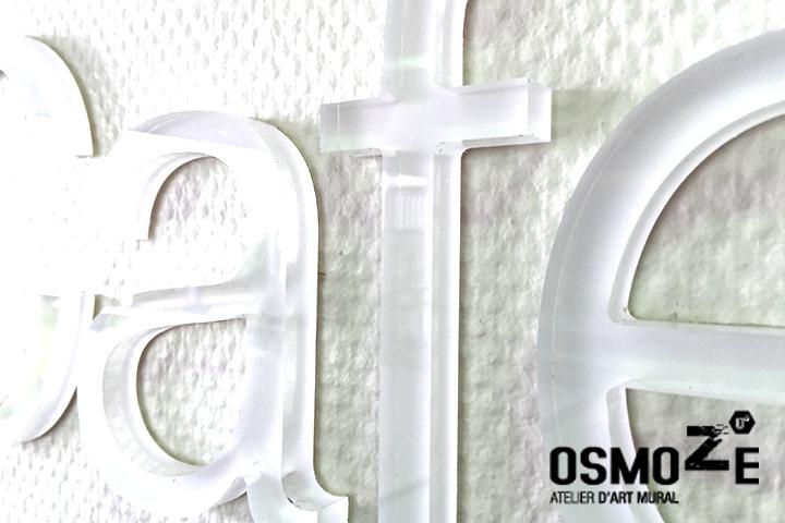 Signalétique Murale Contemporaine >Steelcase France > Logo WorkCafé