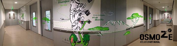 Décoration Murale Hôpital > Pédiatrie Couloir > CHU > Enfant et Animaux connectés
